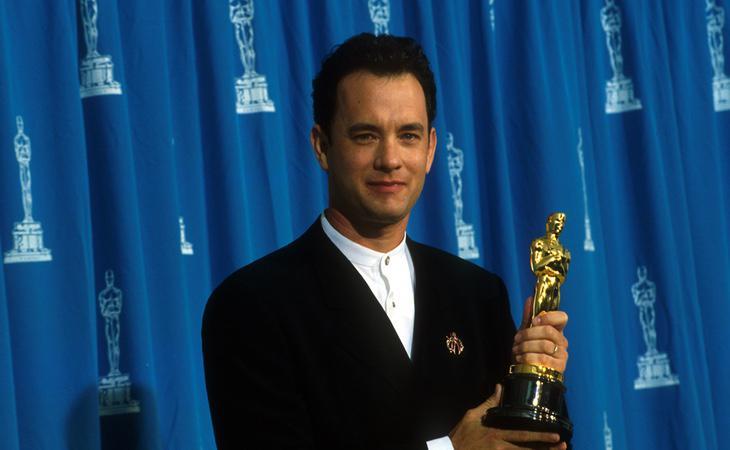 Tom Hanks y su galardón por 'Forest Gump'