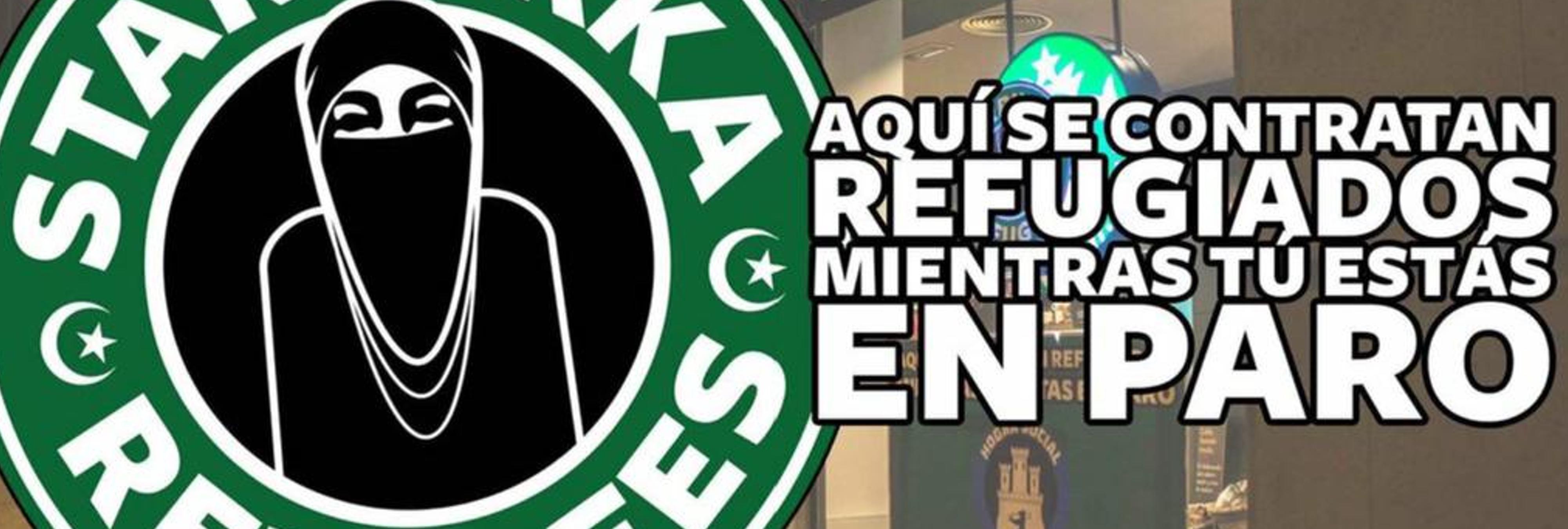 Los neonazis de Hogar Social atacan a Starbucks por dar trabajo a refugiados