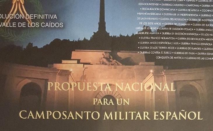 Esta web solicitaba la recogida de firmas para convertir el Valle de los Caídos en un cementerio militar