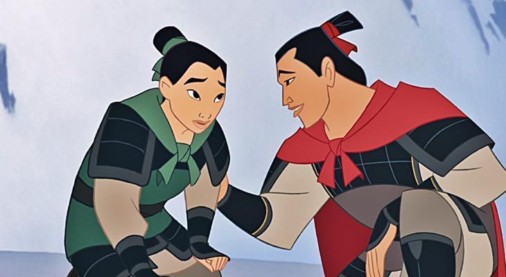 Una de las secuencias de 'Mulán'