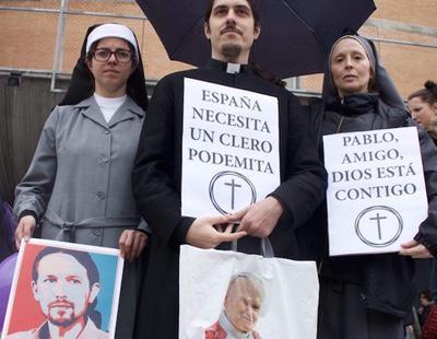 'España necesita un clero podemita': los falsos 'cleroflautas' con fe en Pablo Iglesias
