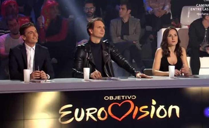 Xavi Martínez, Javier Cárdenas y Virginia Díaz, jurado de 'Objetivo Eurovisión'