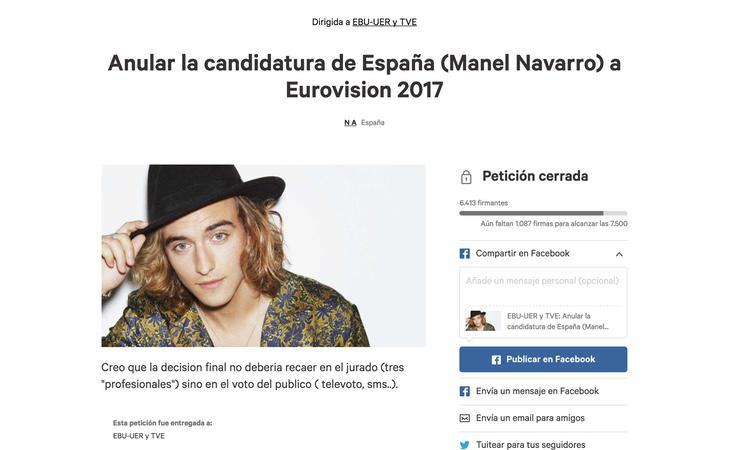 Esta es la petición que pedía la anulación de la candidatura de Manel Navarro