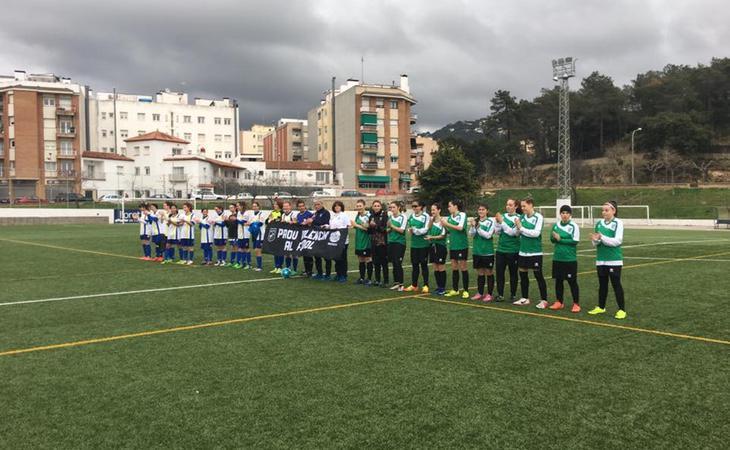 Fotografía del encuentro entre el Atlétic de Masnou y el Llorentec