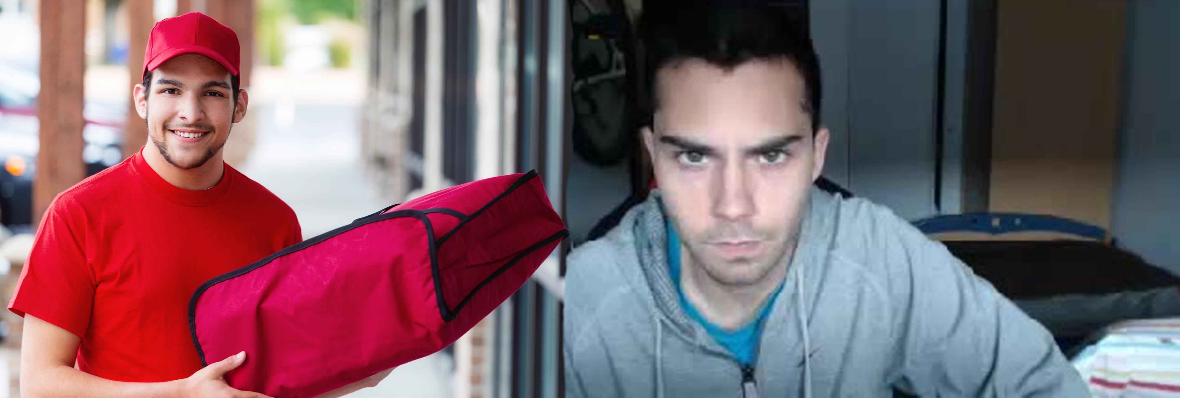 Otro youtuber 'la vuelve a líar': rocía de gas pimienta a un pizzero y recibe su merecido