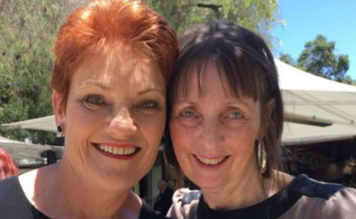 La fundadora del partido y Michelle Meyers
