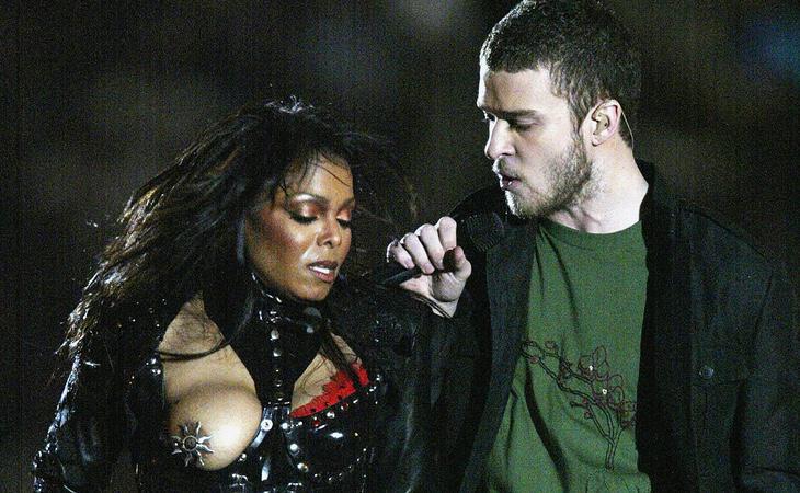 Janet Jackson y Justin Timberlake durante el 'Nipplegate'