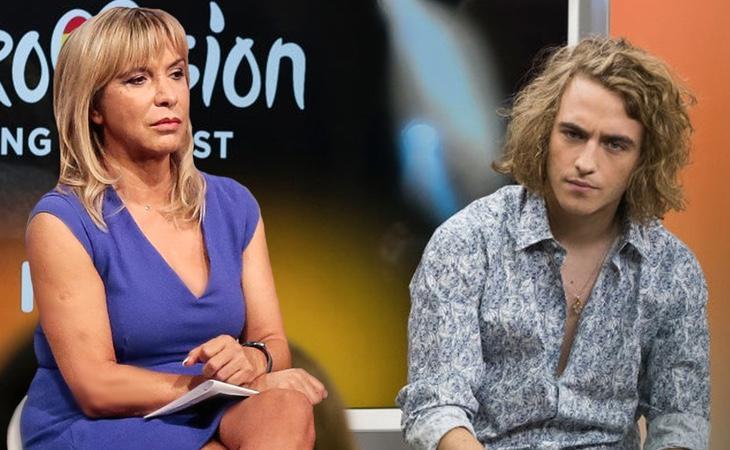 La responsable de 'Objetivo Eurovisión', Toñi Prieto, junto al representante español, Manel Navarro