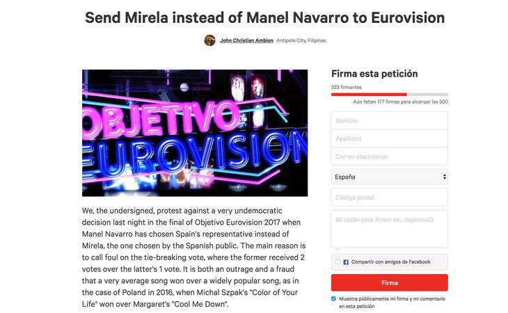 Algunas personas han pedido que se impugnen los resultados de 'Objetivo Eurovisión' desde Filipinas