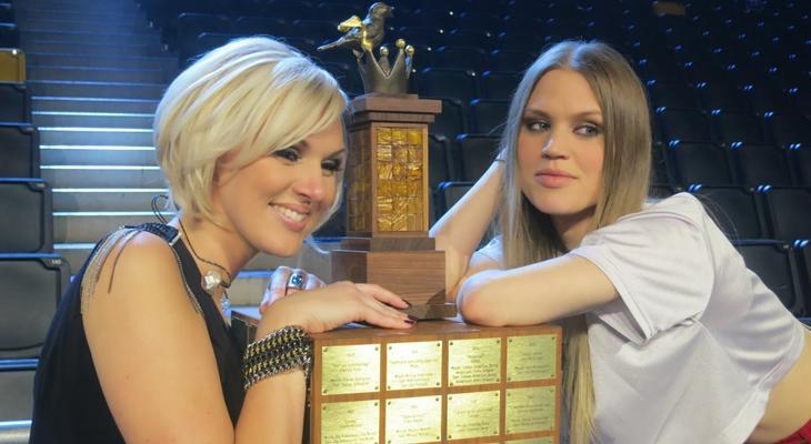 Sanna Nielsen (izquierda) ganó por solo 2 puntos a Ace Wilder en 2014