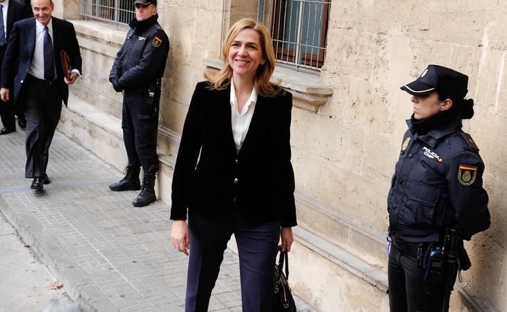 La Infanta Cristina acude a declarar en la Audiencia de Palma