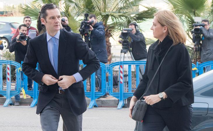 Urdangarín y la Infanta Cristina acuden juntos a declarar en sede judicial