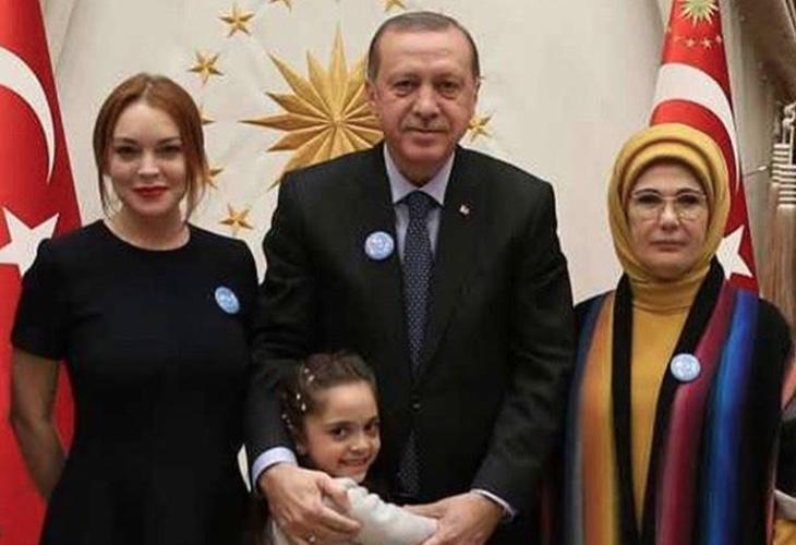 La actriz ha congeniado con el presidente turco, Recep Tayyip Erdogan
