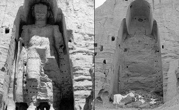 Los budas de Bamiyan contaban con 19 siglos de antigüedad. Fueron destruidos en segundos