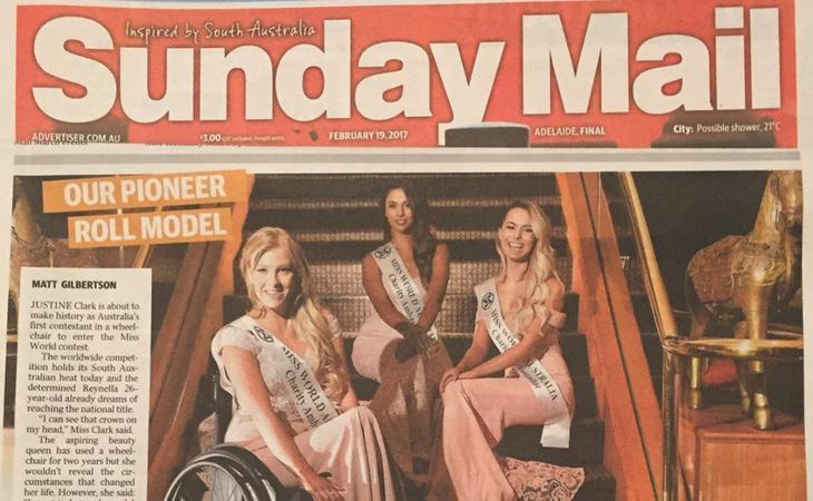 La modelo protagonizó grandes portadas con su participación en Miss Wolrd Australia