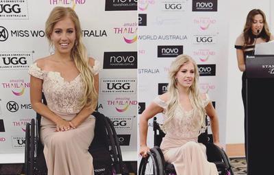 La primera aspirante a Miss Mundo en silla de ruedas