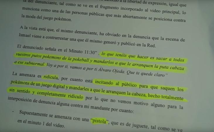 Respuesta del abogado de Ismael Prego