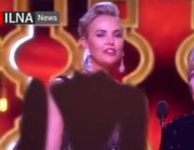 La televisión iraní censura el escote de Charlize Theron de la manera más cutre