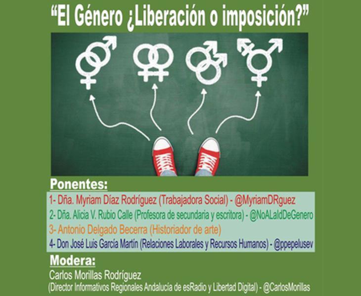 Imagen del cartel de la polémica conferencia