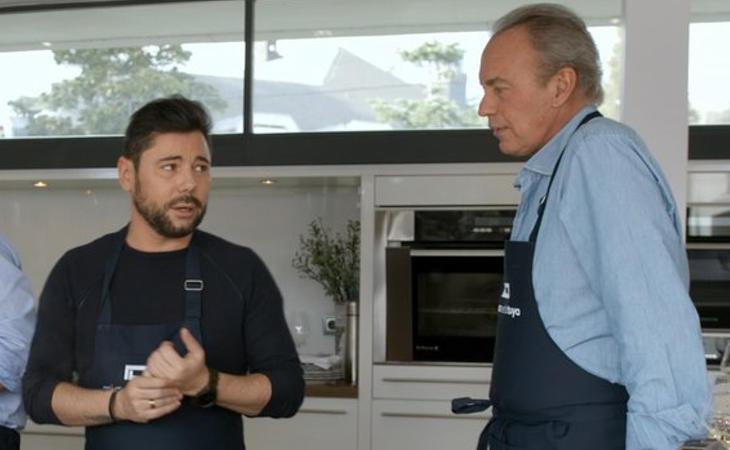 Miguel Poveda con Bertín Osborne en 'Mi casa e sla tuya'