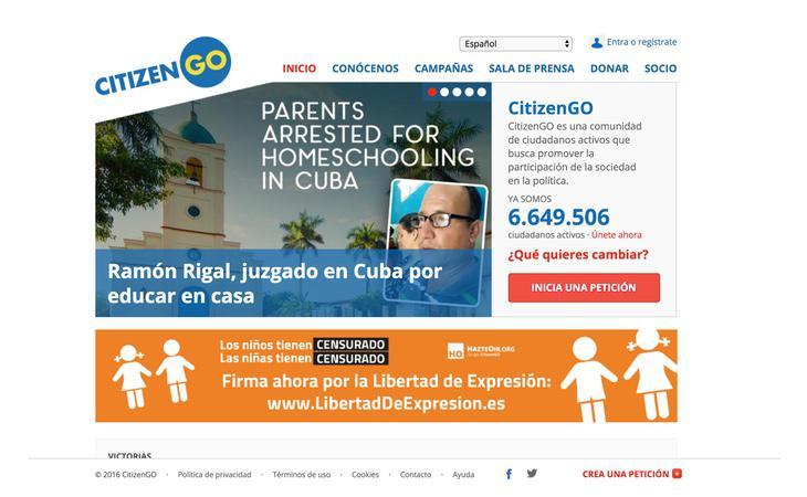 La web Citizen Go ha sido vinculada con el Yunque