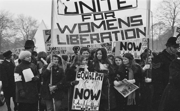 Mujeres inglesas en pro de la liberación femenina