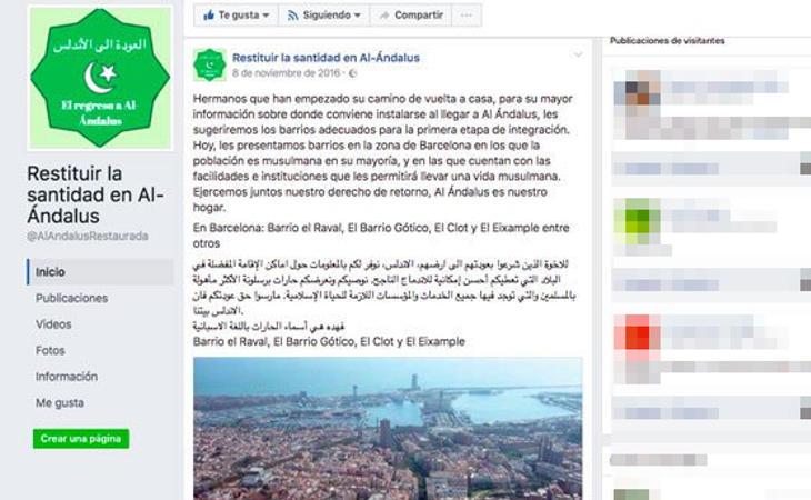 Facebook de 'Restituir la santidad de Al-Ándalus'