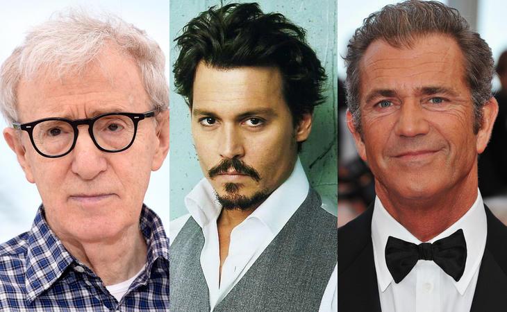 Woody Allen, Johnny Depp y Mel Gibson han sido acusados de violencia machista
