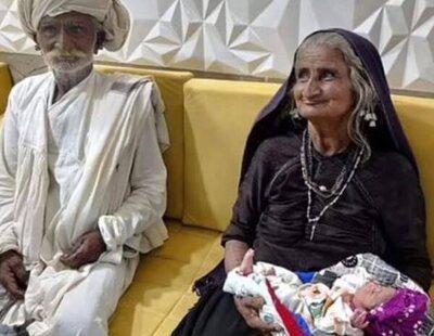 Una mujer india de 70 años asegura que se ha convertido en madre primeriza por fecundación in vitro