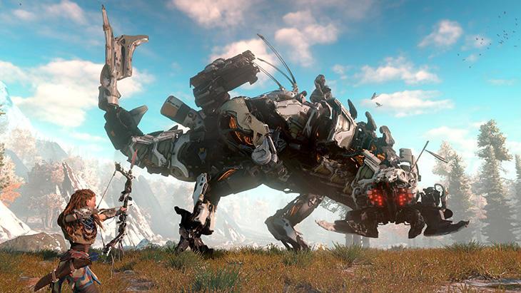La lucha de Aloy contra los dinosaurios robóticos es uno de los juegos del año
