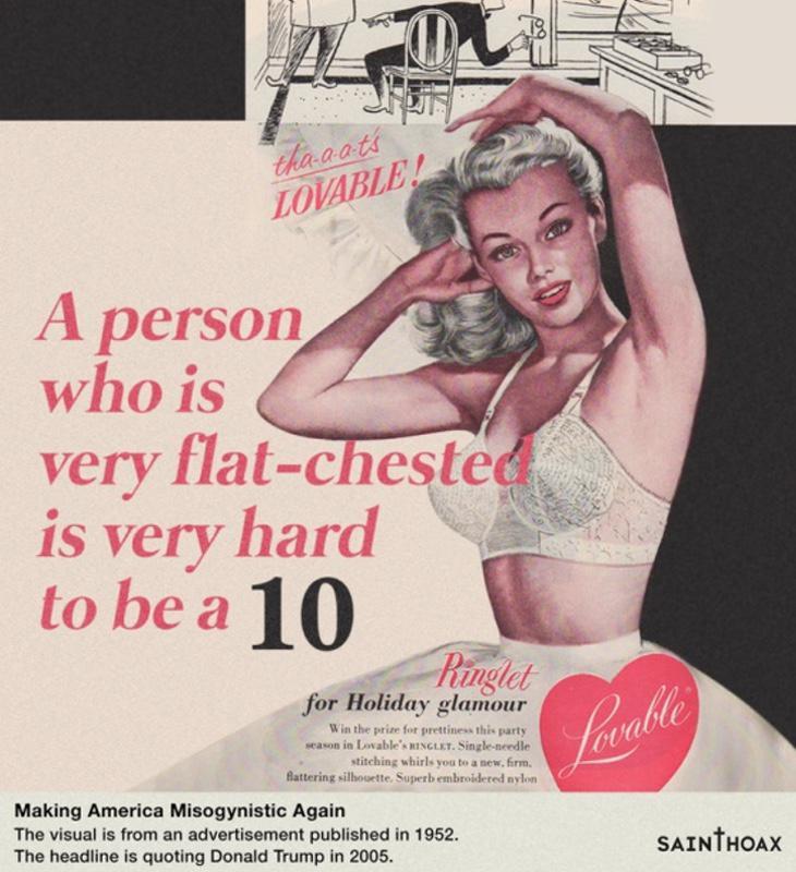 Es muy difícil que una persona con pechos planos sea un 10
