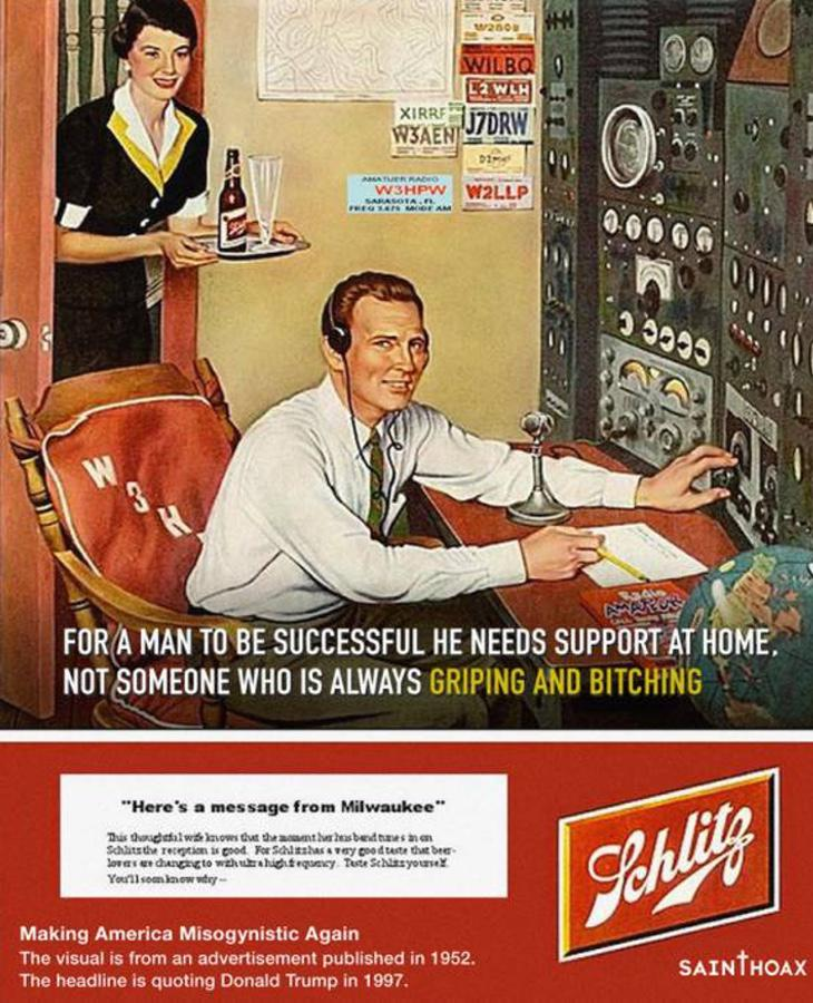 Para que un hombre tenga éxito necesita apoyo en el hogar, no alguien que sea un quejica