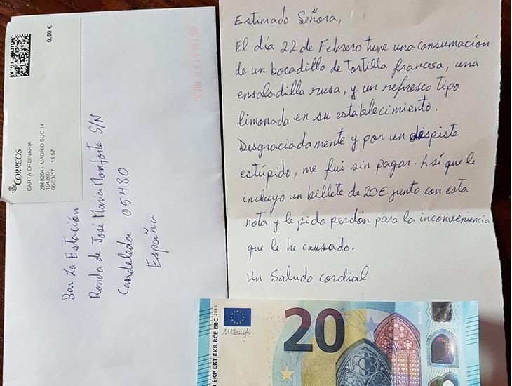 La carta de una persona honrada