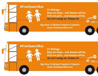 El autobús transfóbico de Hazte Oír recorrerá Estados Unidos reforzando su mensaje de odio