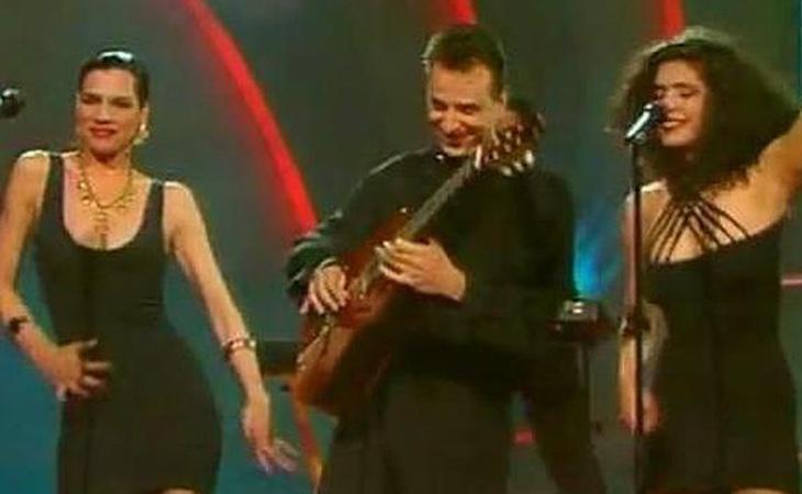 La legendaria actuación de las Azúcar Moreno en Eurovisión no es un logo, pero bien merece una camiseta y una reedición en Blue-ray