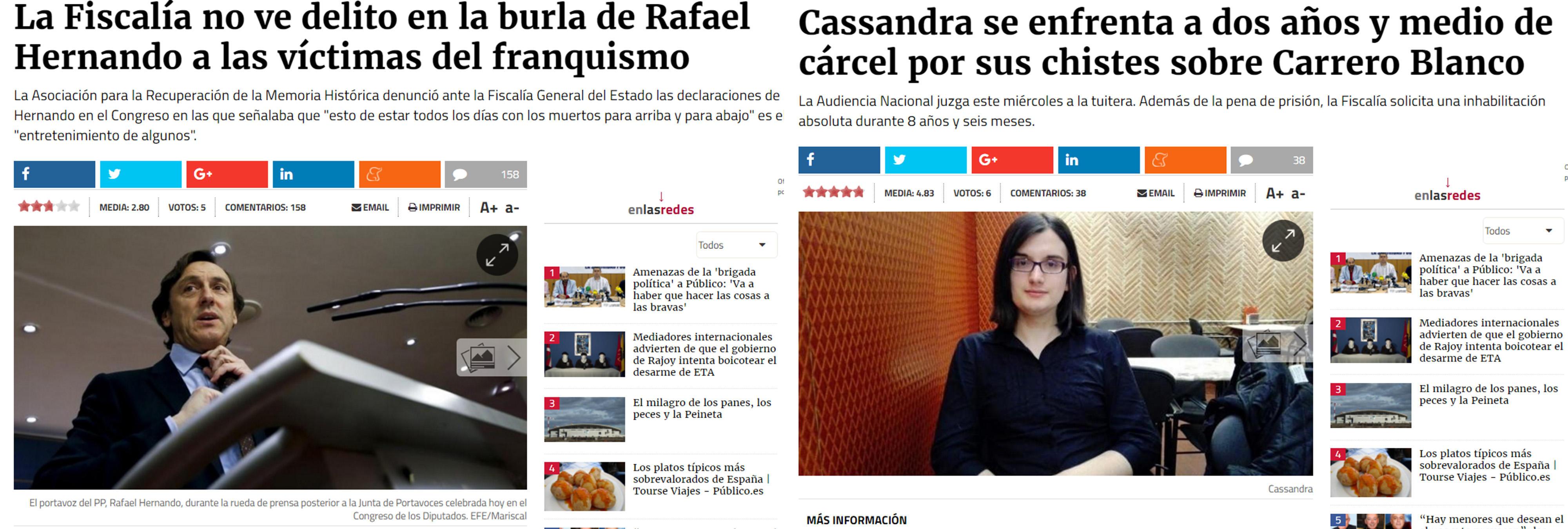 Las dos varas de medir de la Fiscalía: chistes de Carrero Blanco y menosprecio a las víctimas del franquismo