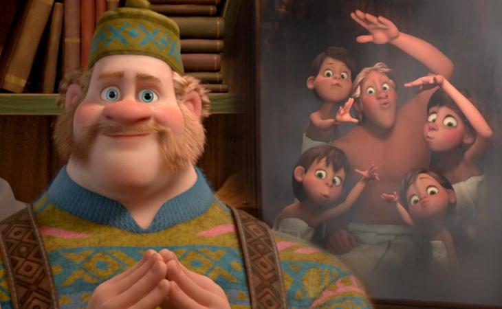 Oaken y la famosa sauna en 'Frozen'
