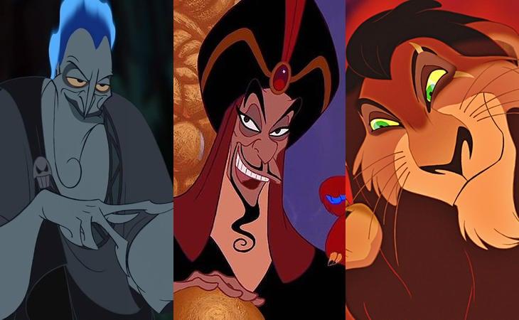 Hades, Jafar y Scar en 'Hércules', 'Aladdín' y 'El Rey León'