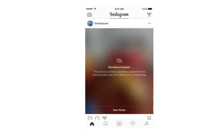 Así es como aparecerán a partir de ahora los contenidos censurados en Instagram