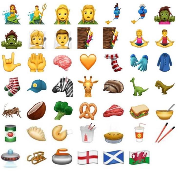 Algunos de los emojis aspirantes a aparecer en WhatsApp