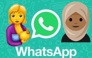 Una mujer con hiyab y otra dando el pecho, entre los nuevos 137 emojis que estrenará WhatsApp