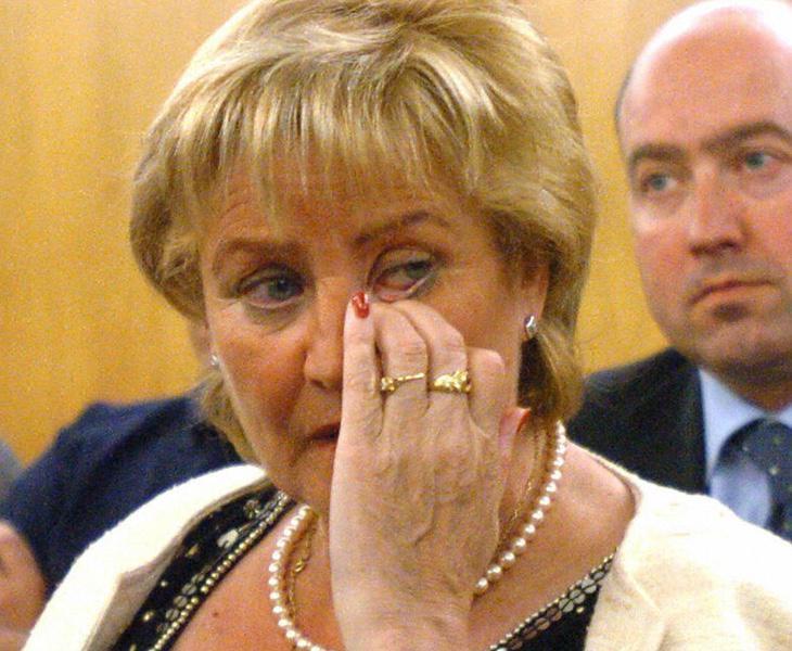 La madre de Miguel Ángel Blanco, Mamen Álvarez, durante el juicio por el asesinato de su hijo