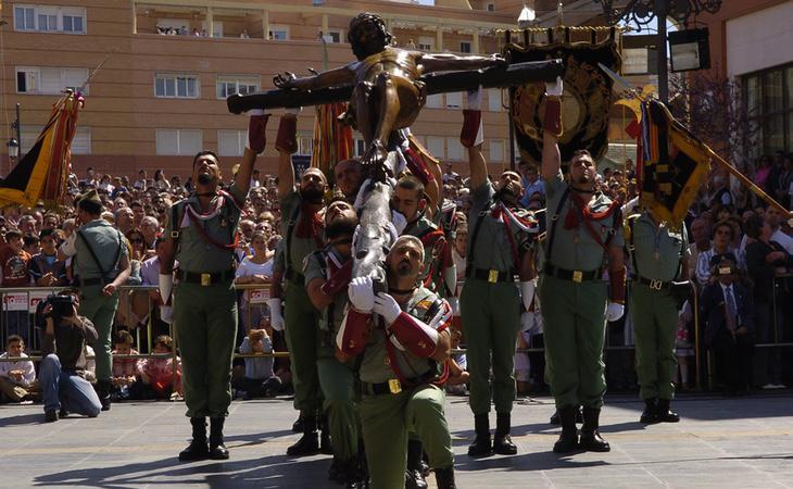 Procesión del Cristo de la Buena Muerte en Málaga
