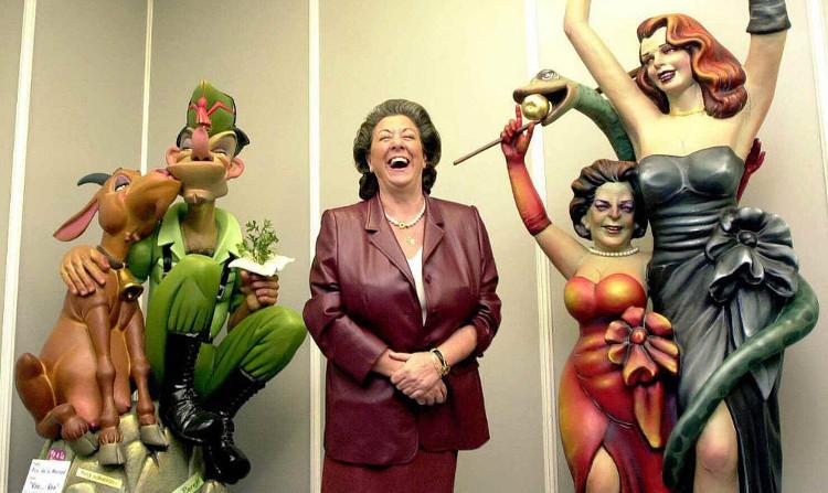 Rita Barberá ha sido protagonista en las fallas en cientos de ocasiones