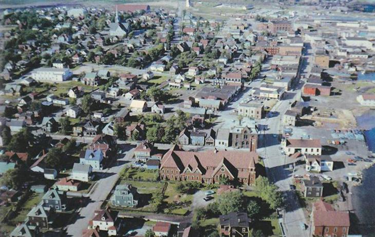 Vista aerea del Sídney canadiense.