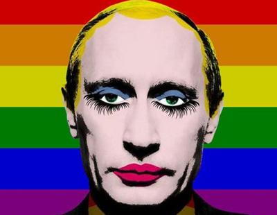 Rusia prohíbe el meme de Putin maquillado sobre la bandera LGTB