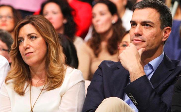 Susana Díaz y Pedro Sánchez, las dos facciones del PSOE