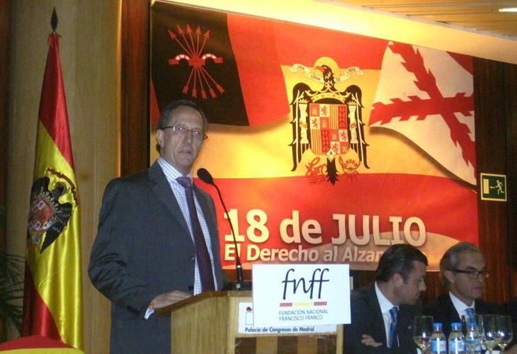 El vicepresidente de la Fundación, Jaime Alonso García, aseguro que 'Franco solo fusiló a 23.000 personas y no fue por capricho'