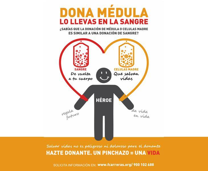 Campaña de la Fundación Josep Carreras para fomentar la donación de médula ósea