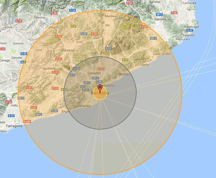 Barcelona quedaría completamente arrasada